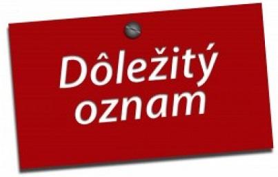 OZNAM MESTA NOVÁ DUBNICA - Mesto Nová Dubnica